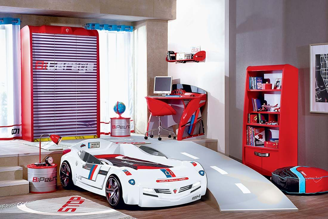 cool kids car beds bedroom cool kids white speed racer car bed kidscute in 2018 pinterest