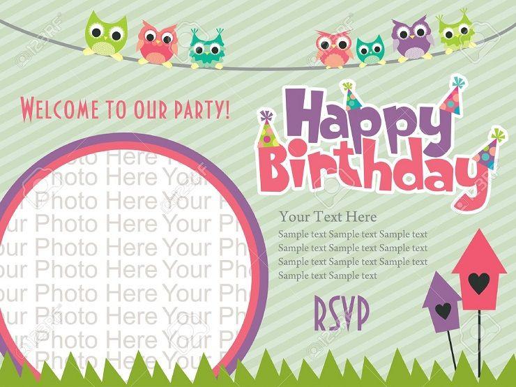 Happy Birthday Invitation Card With Photo Invitation Ideas