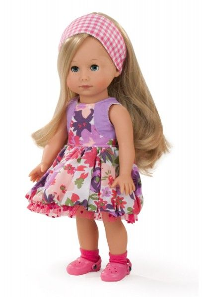 Götz Puppenmanufaktur Puppe Just like me Mia 27 cm blonde Haare ...