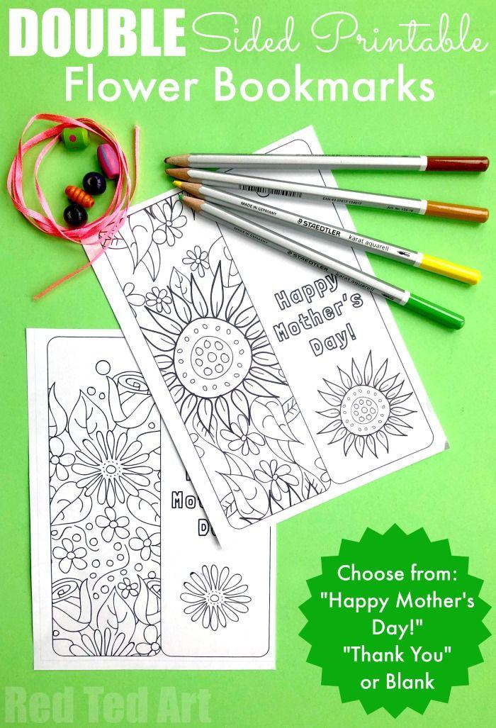 Printable Flower Bookmark en 2018 | Origami y Tarjetas | Pinterest ...