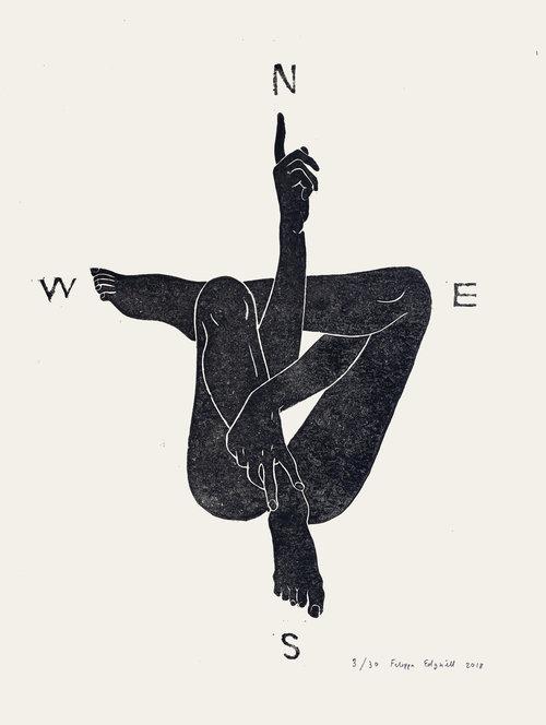 Filippa Edghill IllustrationBody Compass - Block Print — Filippa Jean Edghill