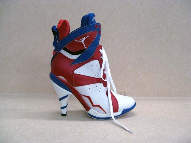 3cb7d735989 Air Jordan 7 High-heeled Blue Red White