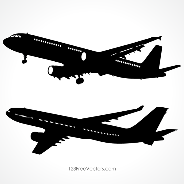 Detailed Airplane Silhouette Vector Images Airplane Silhouette Silhouette Vector Airplane Illustration