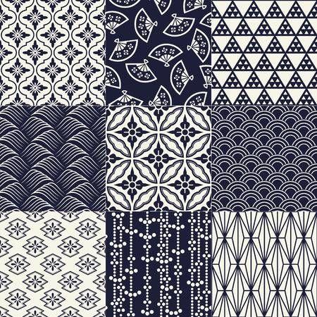 motif de maillage traditionnel japonais