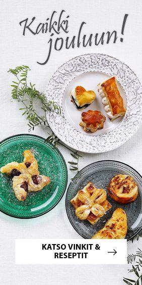 Katso ideat uudenlaisiin jouluruokiin. Modernilla jouluaterialla maistuu lihamenu, kalamenu, kalkkunamenu tai trendikäs kasvismenu. Artikkelin lopusta löydät...