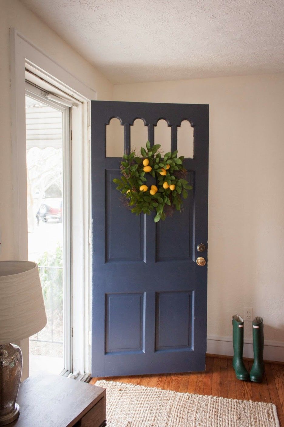 Beautiful front door u wreath dream home exterior pinterest