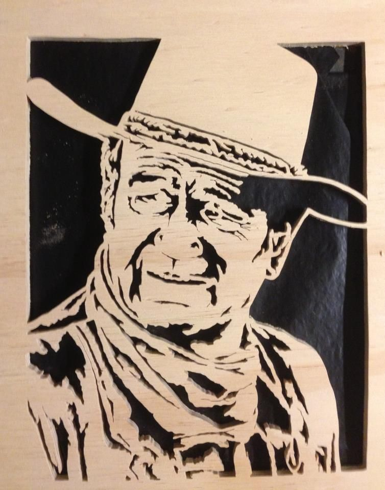 John Wayne, I made this cut on a scroll saw.