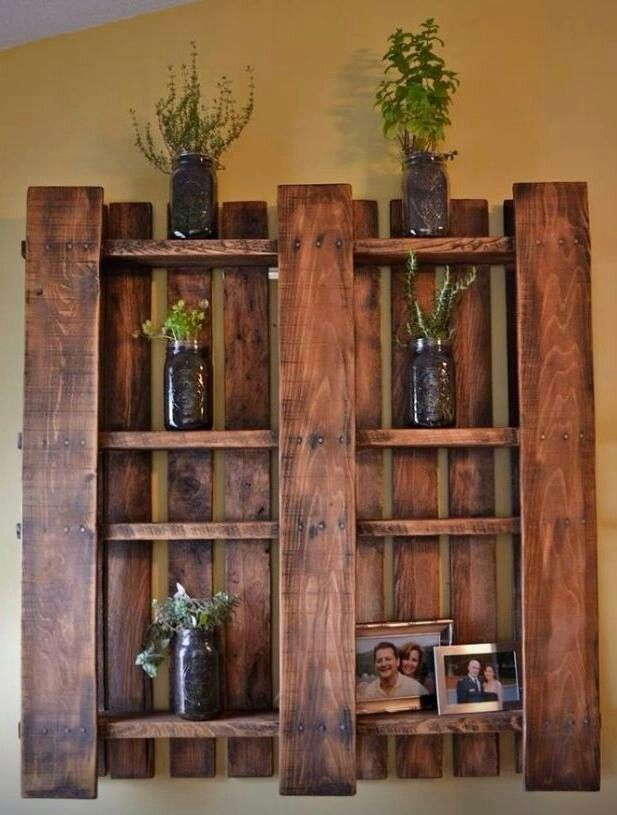 Take a pallet pull off a few boards & stain it and youll have a nice shelf!!!