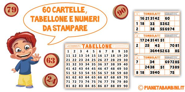 Cartelle tombola da stampare word for Cartelle tombola per anziani
