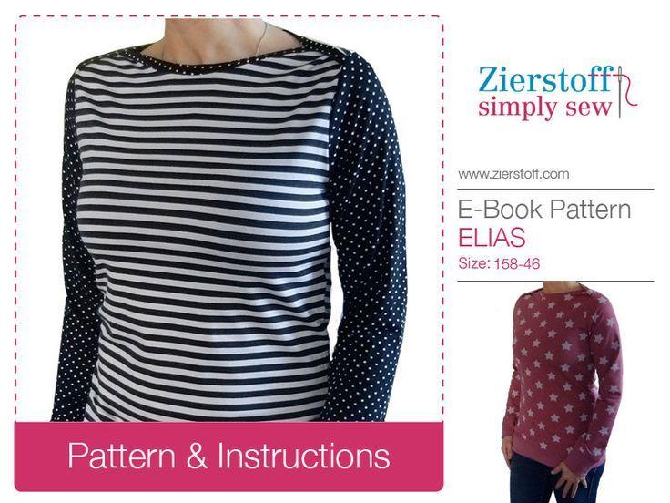 564cc3ff4 ELIAS envelope neckline shirt   longsleeve sewing pattern