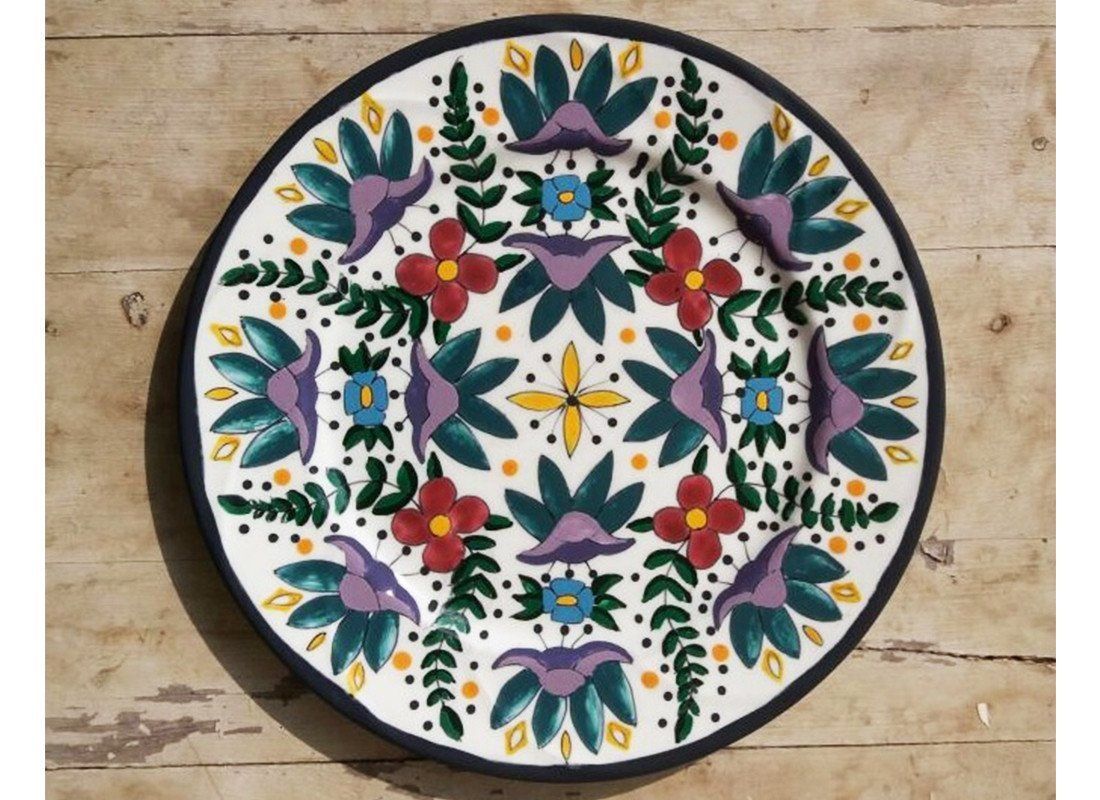 Buy multicolor wall plates online turkish floral wall décor wall