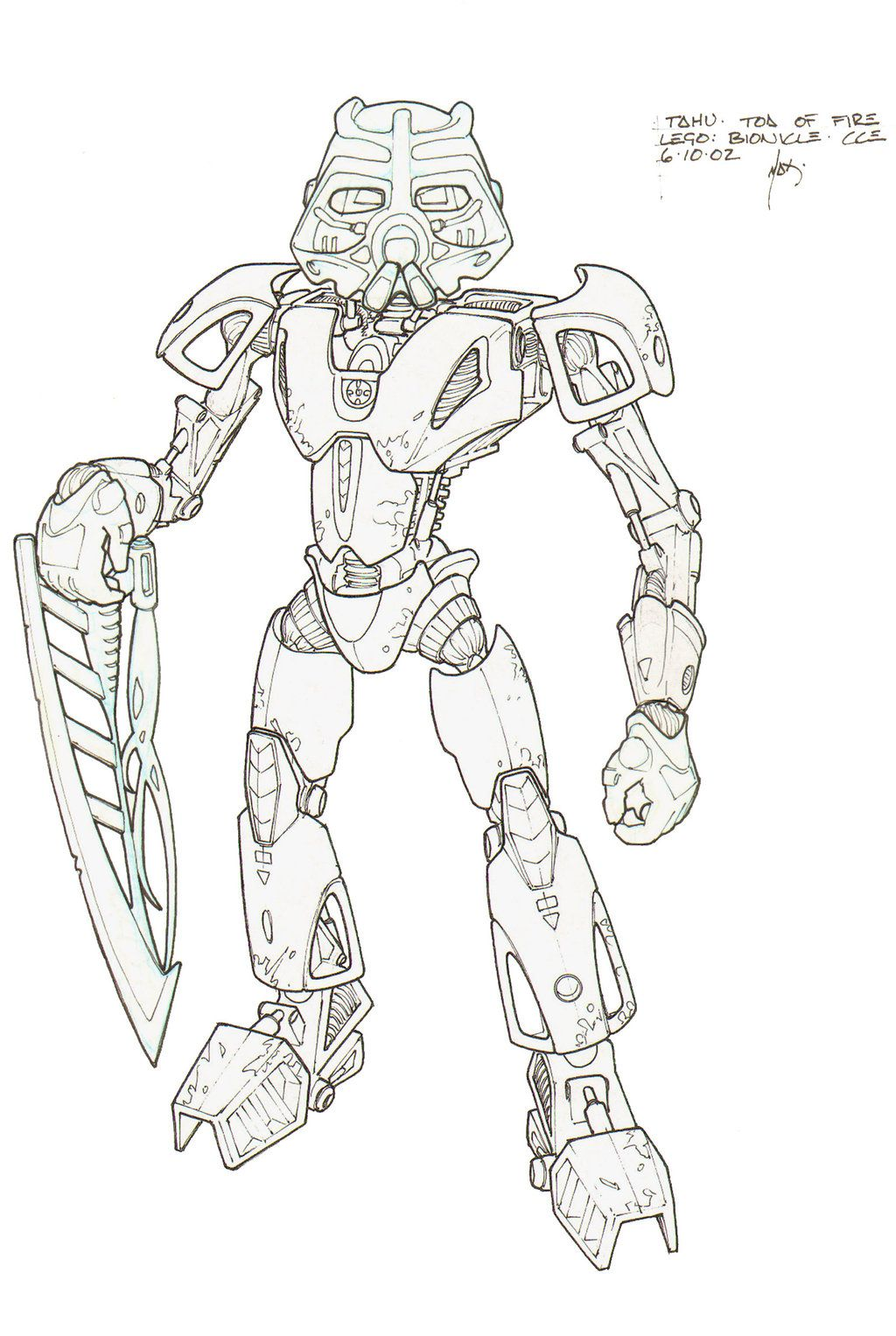 Tahu Toa of Fire by HK-887 on DeviantArt | Bionicle, Hero Factory ...