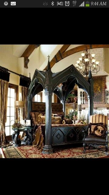 Medieval Bedroom Design Totally Want This Bed  Dream Home  Pinterest