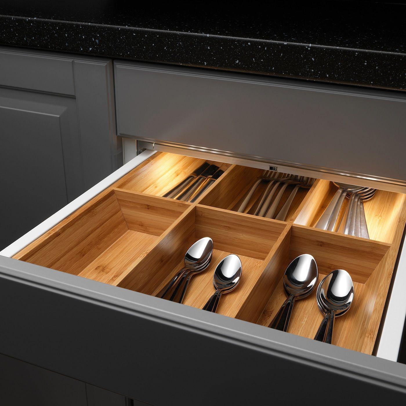 OMLOPP LED light strip for drawers aluminium colour IKEA