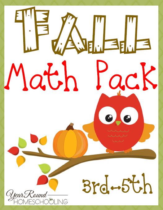 Free Fall Math Pack (3rd-5th   Math, Homeschool and Homeschool math