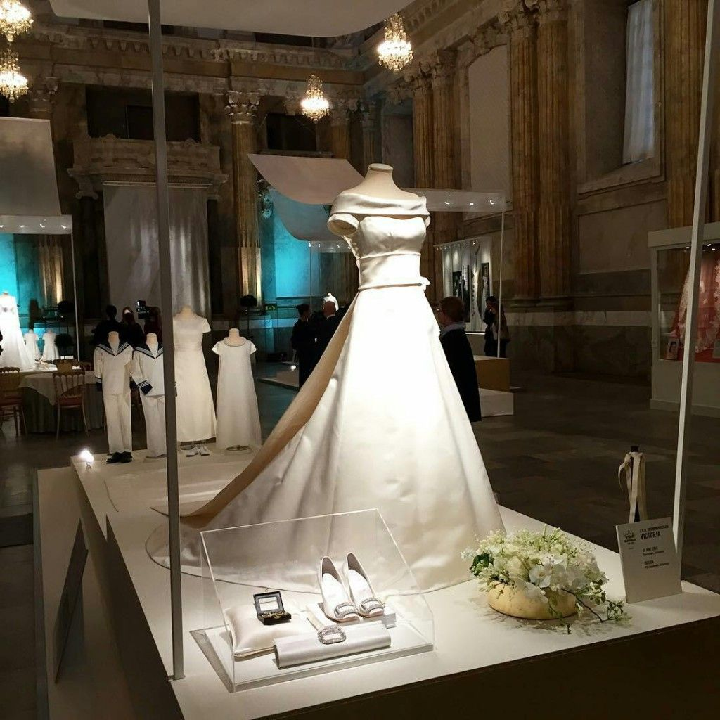 Queen Silvia Crown Princess Victoria And Sofia Attended The Royal Wedding Dresses Exhibition At Palace