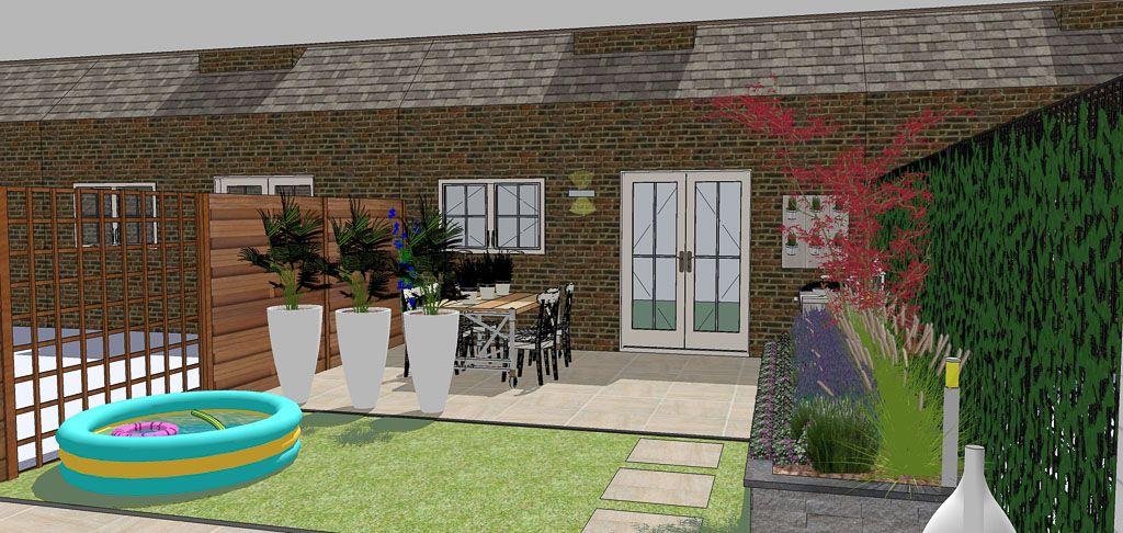 Kindvriendelijke tuin zithoek tuinontwerp en lounges for Kindvriendelijke tuin ontwerpen