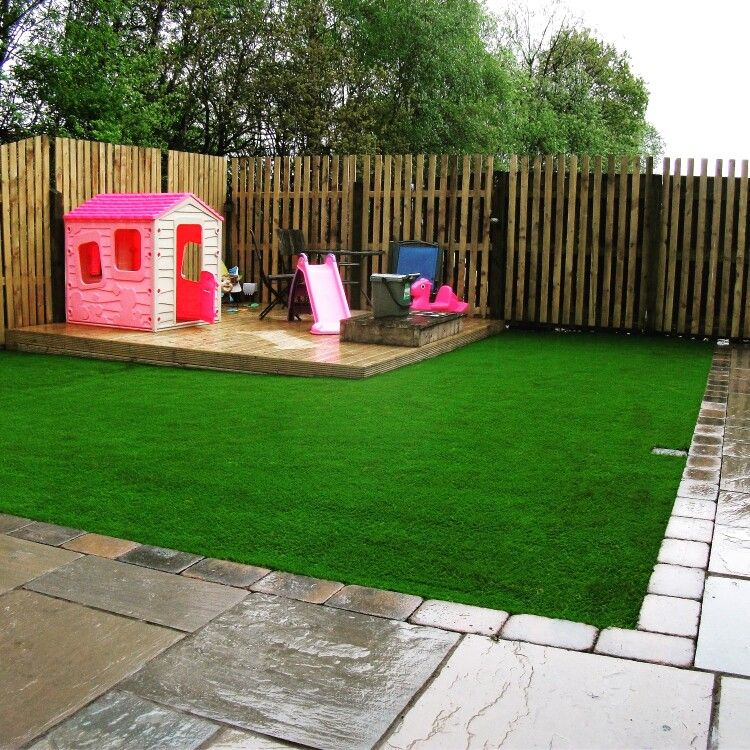 Finished Play Area With Artificial Turf Install