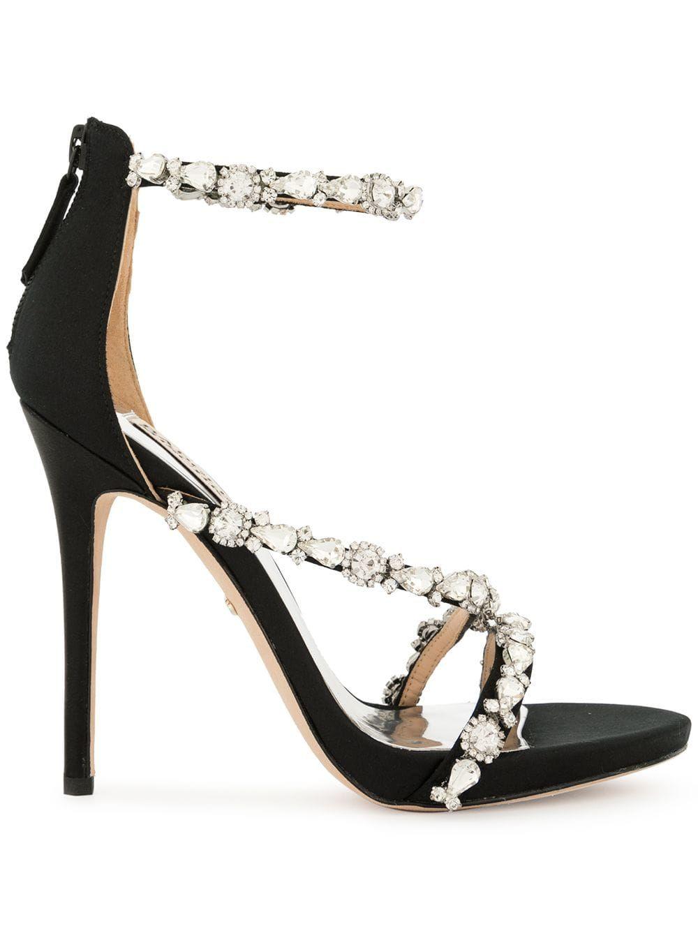 Embellished sandals, Heels