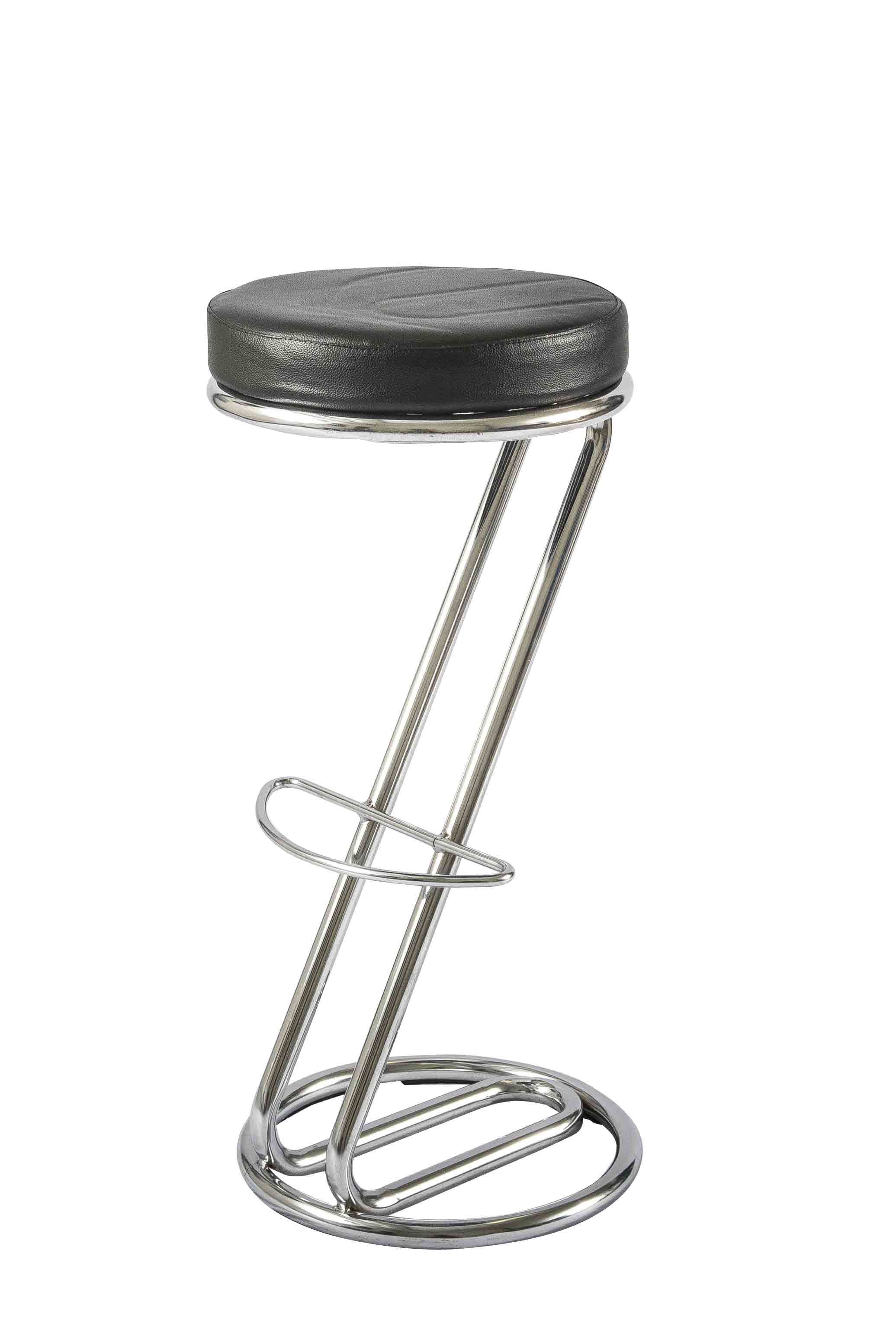 Bar Stool Z shape contemporary bar stool with a chrome