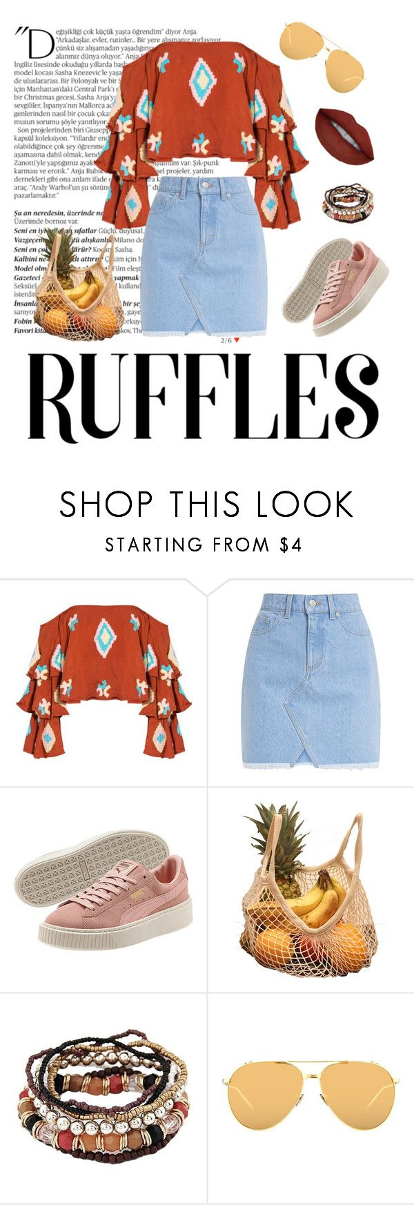 """Untitled #124"" by kyrasfashion-looks ❤ liked on Polyvore featuring Balmain, Mochi and Linda Farrow"