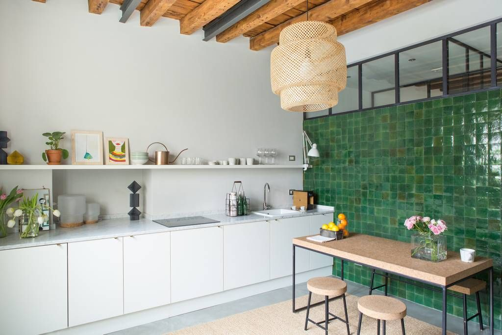 Fully Equipped Kitchen Stove Microwave Espresso Machine Boiler Italian Kitchen Design Elegant Kitchens Home Kitchens