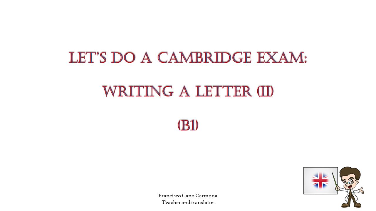 Carta B1 Ii Presentación Cartas Y Aprendizaje