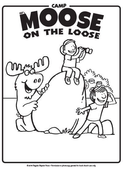 Free coloring page downloads for Camp Moose on the Loose