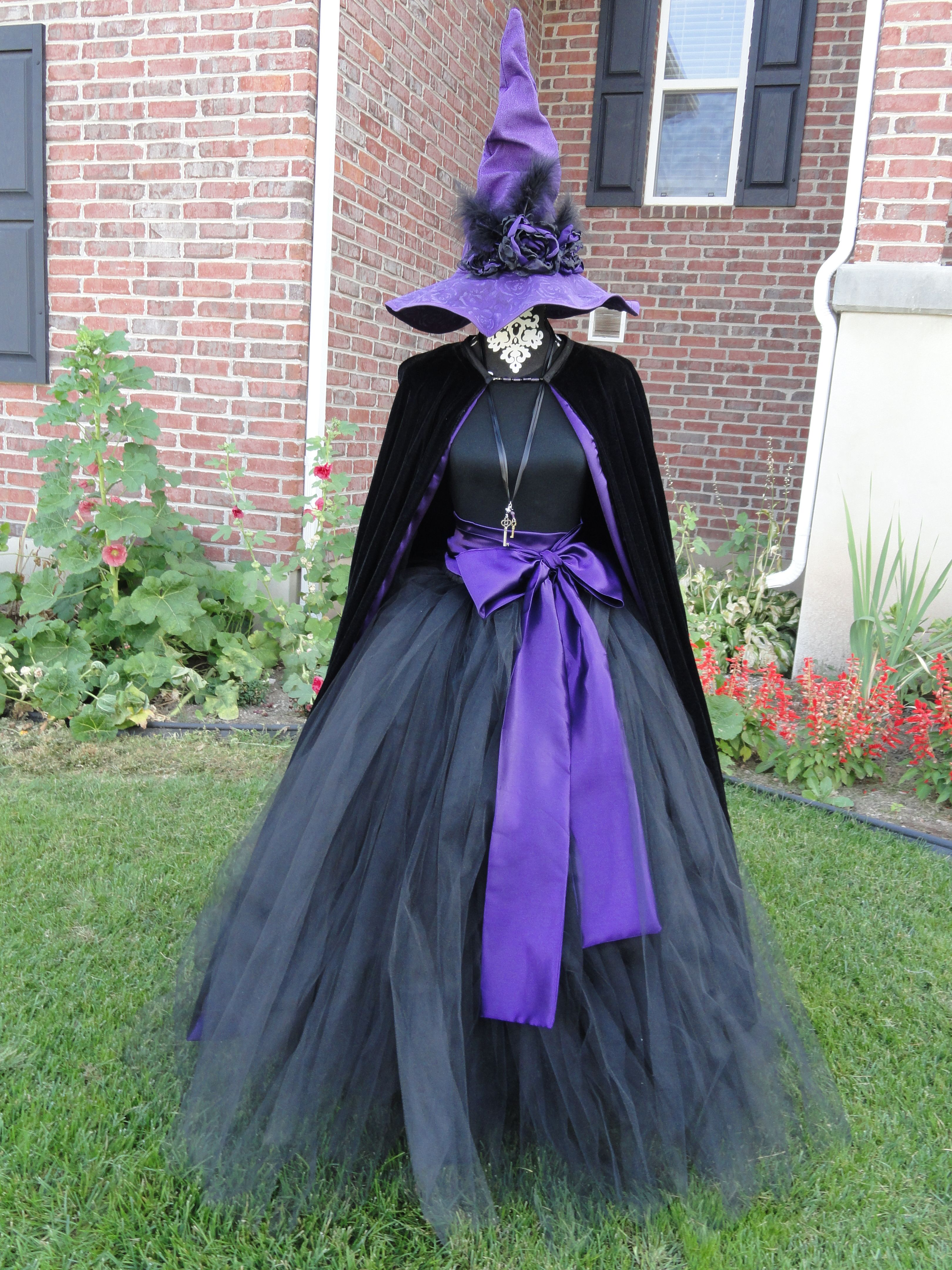 A Witch has gotta have style! Tulle gown, velvet cloak