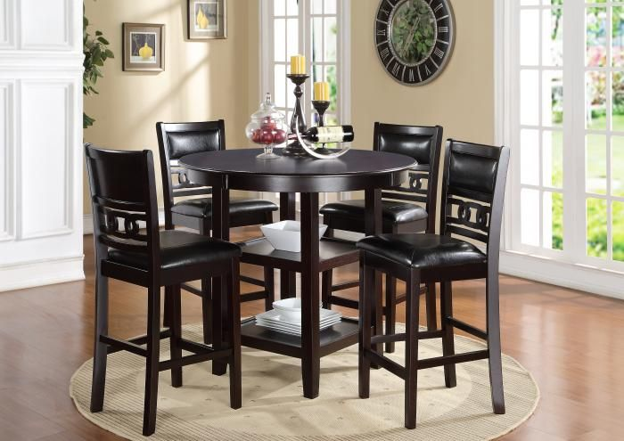 Gia Counter Height Table And 4 Stools All In One Jaron S Showcase Counter Height Dining Table New Classic Furniture Pub Table Sets