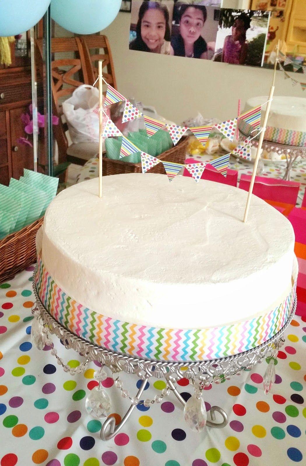 Simple Tween Birthday Cake