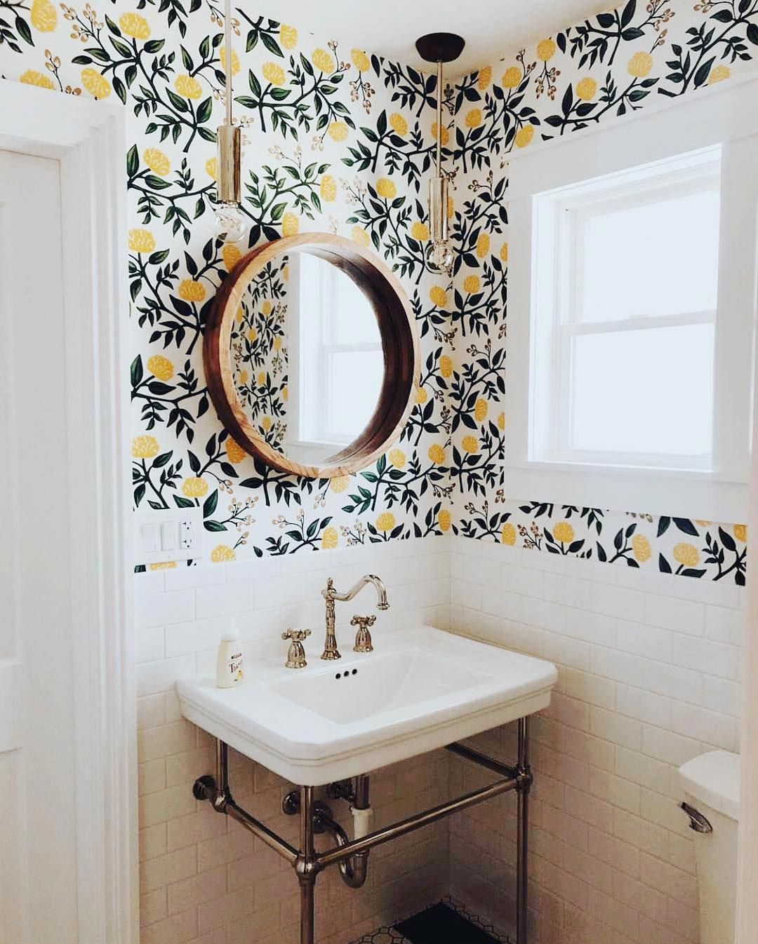 Fjord Rod Pendant Home Wallpaper Bathroom Decor Small Bathroom