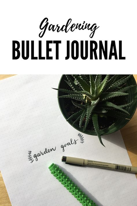 Ideas for garden bullet journal pages, including printables. Meet ...