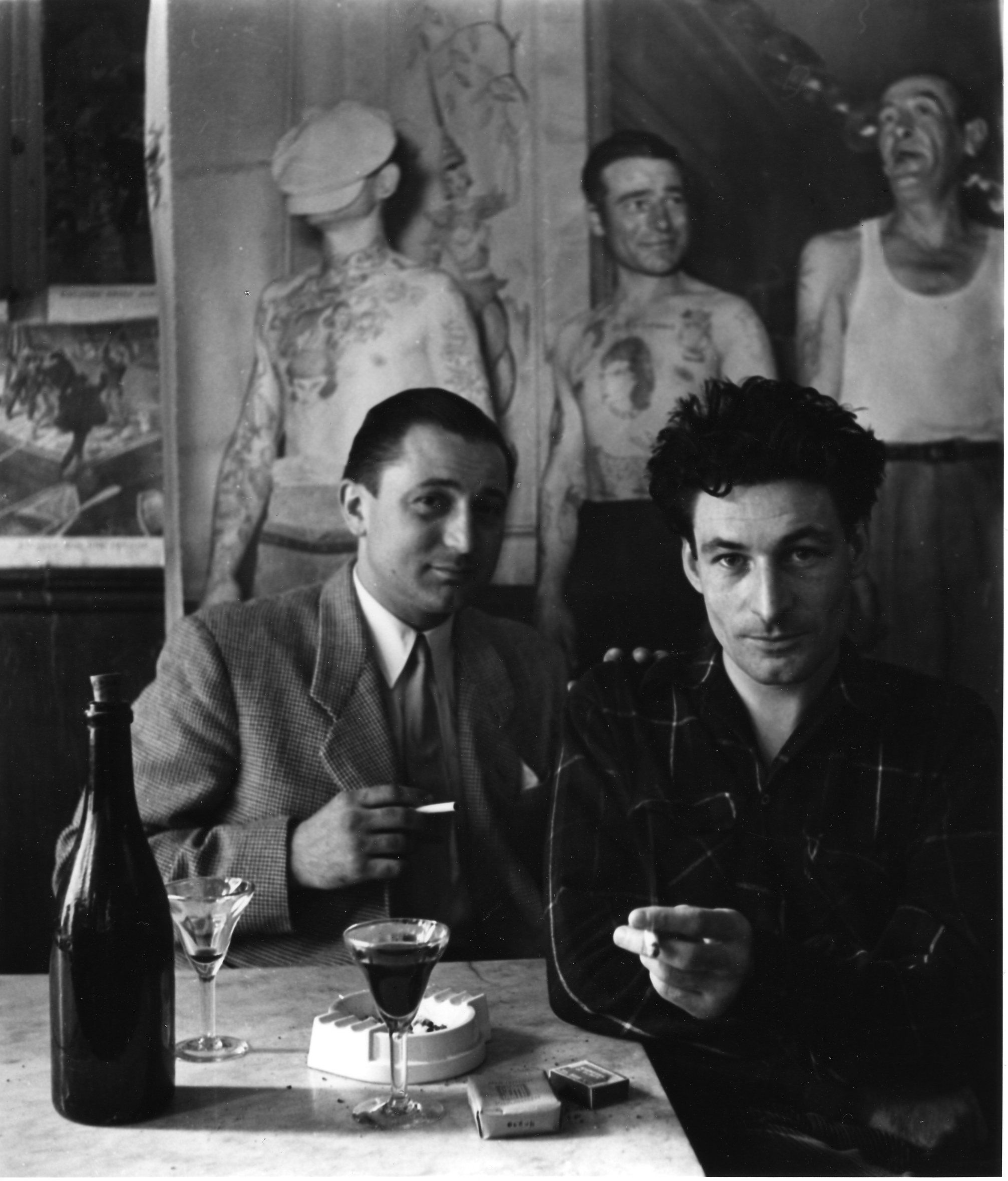 Photographer Robert Doisneau and Robert Giraud – 1950