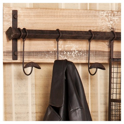 Entryway Wall Mount Storage - Rustic - Aiden Lane, Light Brown