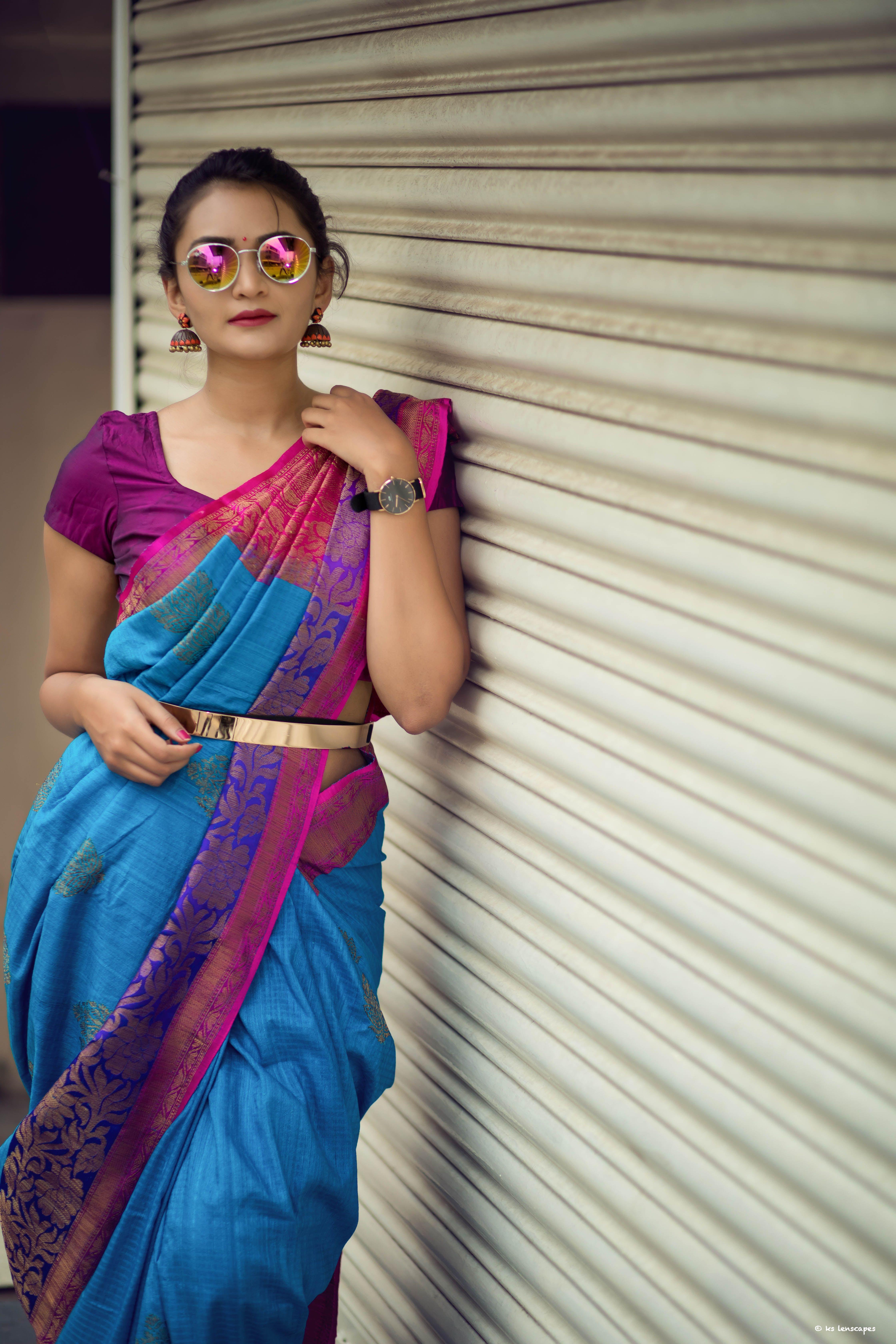 The Belted Style | Saree styles, Saree look, Saree