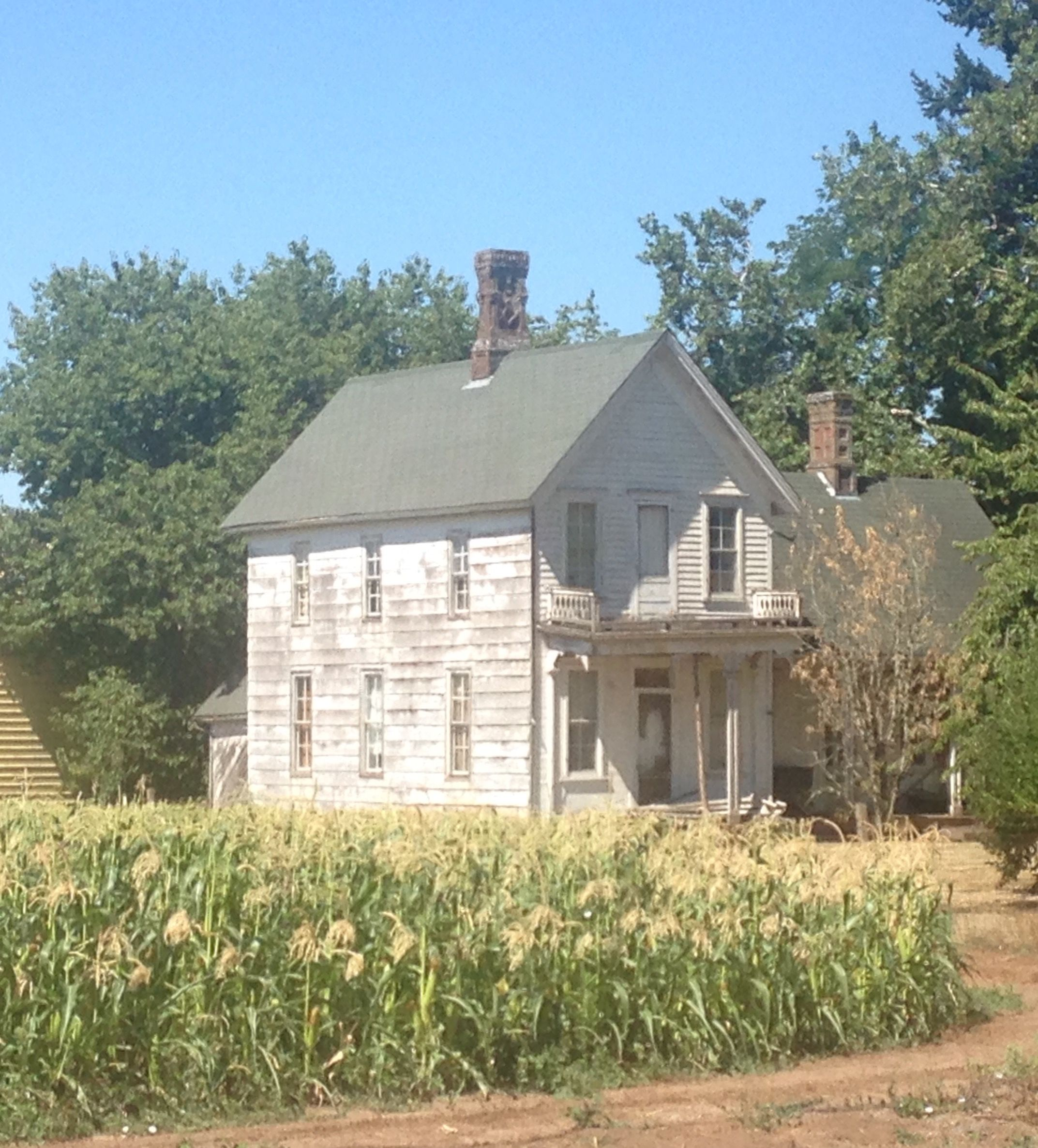 Old farmhouse with Masonic symbol in the brickwork of the