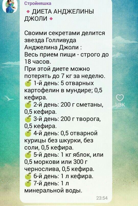 Пятиступенчатая Диета Лесенка.