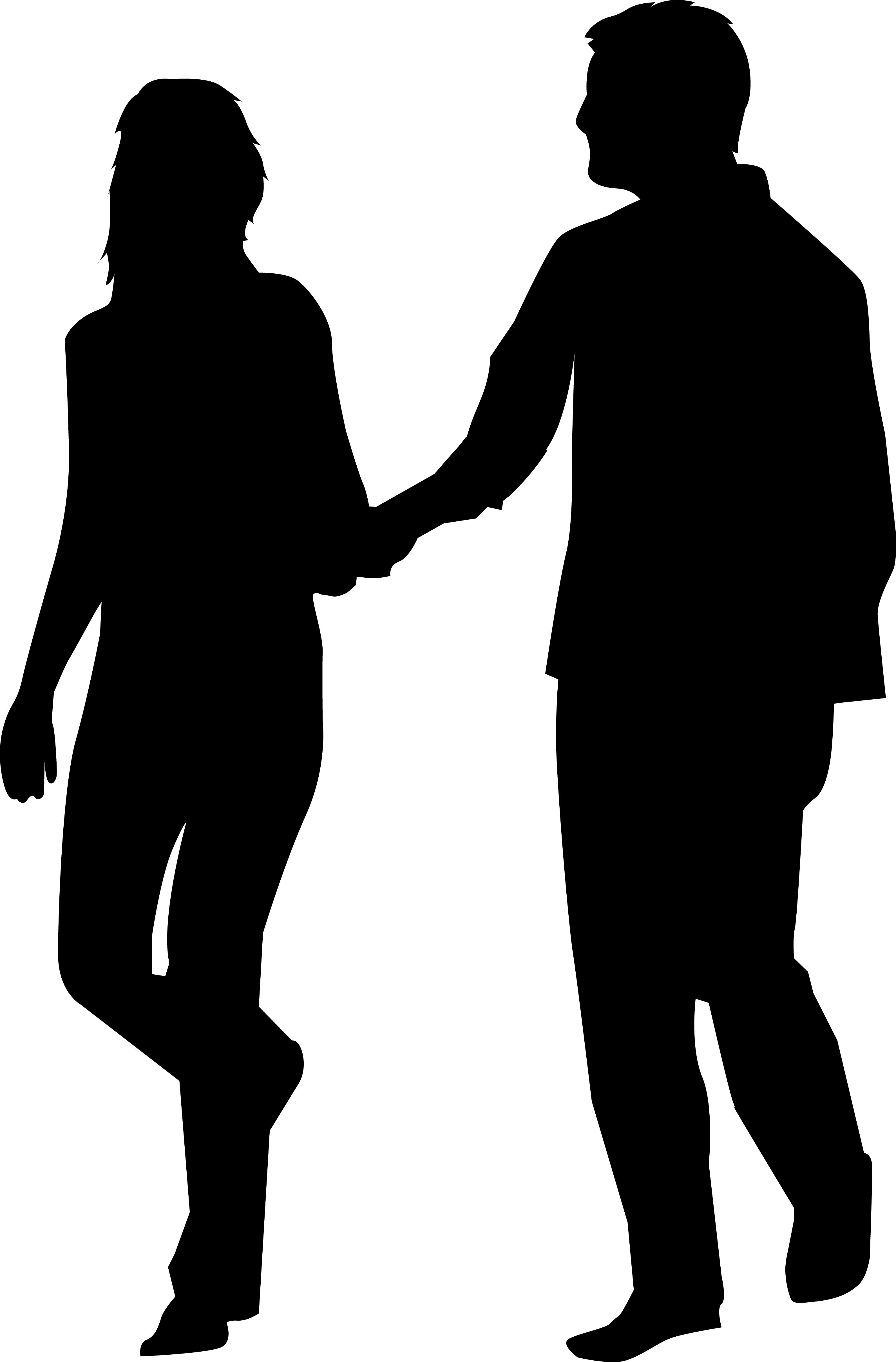 Person Silhouette Man And Woman Silhouette Silhouette People