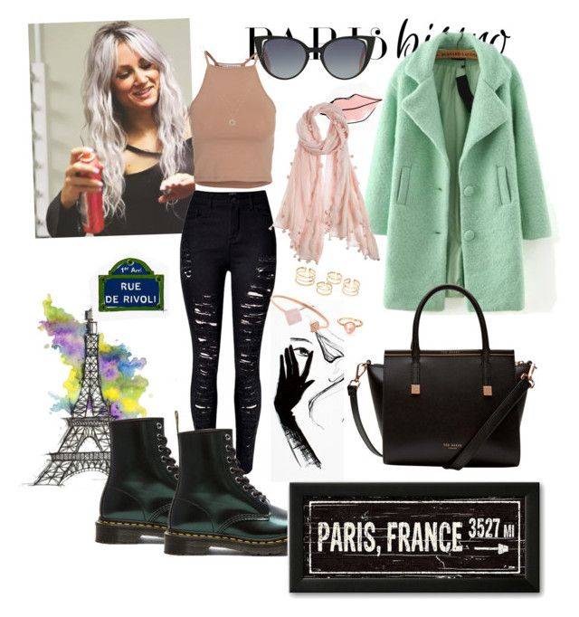 """""""Meet me in Paris"""" by marisabinov on Polyvore featuring moda, Garance Doré, NLY Trend, WithChic, Ted Baker, Fendi, Chan Luu, Dr. Martens, Michael Kors e LC Lauren Conrad"""