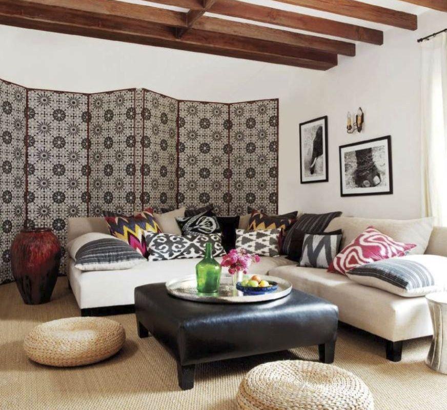 Ellen Pompeou0027s den designed by Martyn Lawrence Bullard