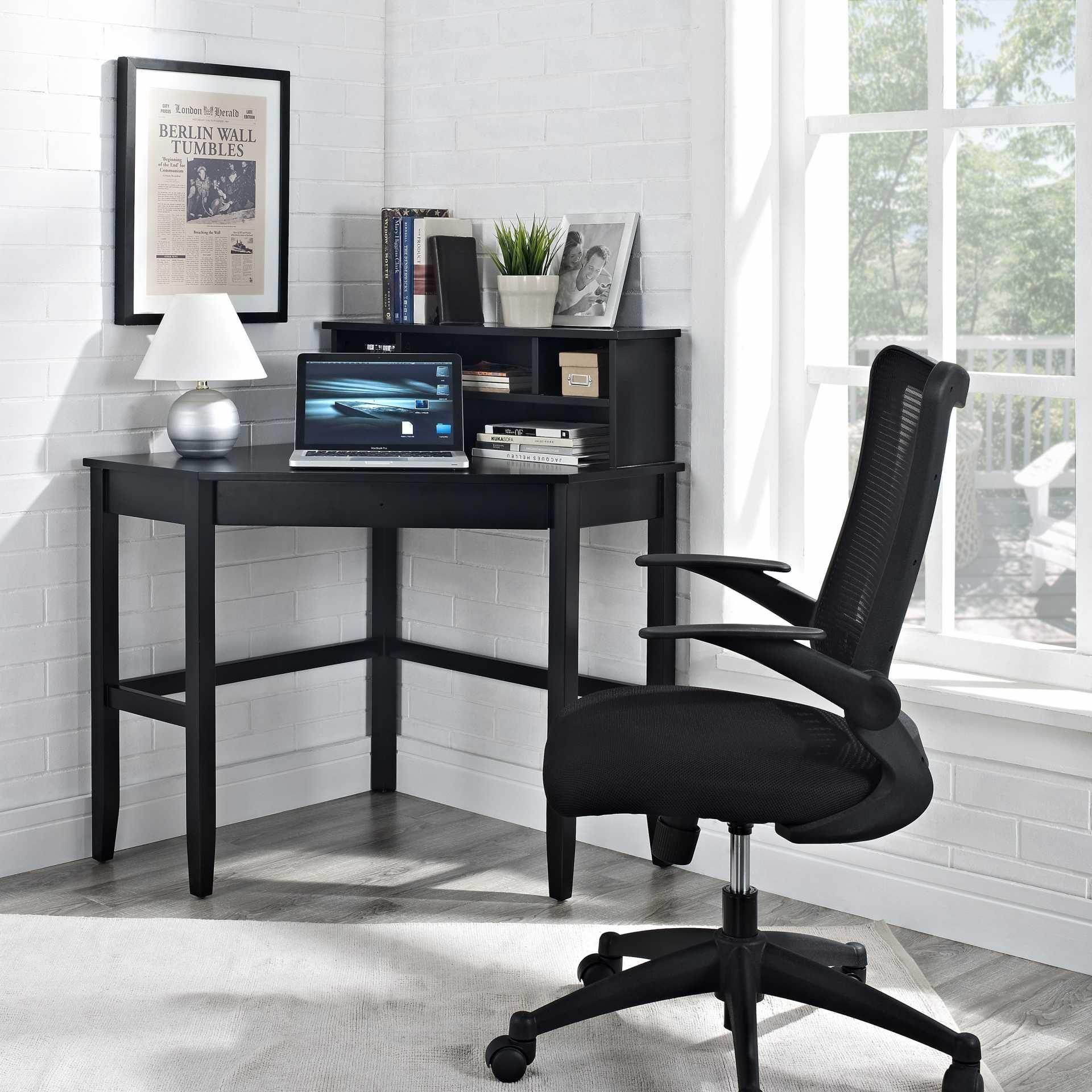 Black corner desk price and picture