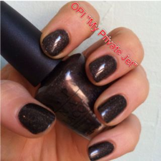 OPI My Private Jet: gray base with holographic sparkle which I like to call glamorous asphalt :)