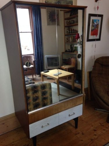 1950s-60 Wardrobe And Dressing Table Set