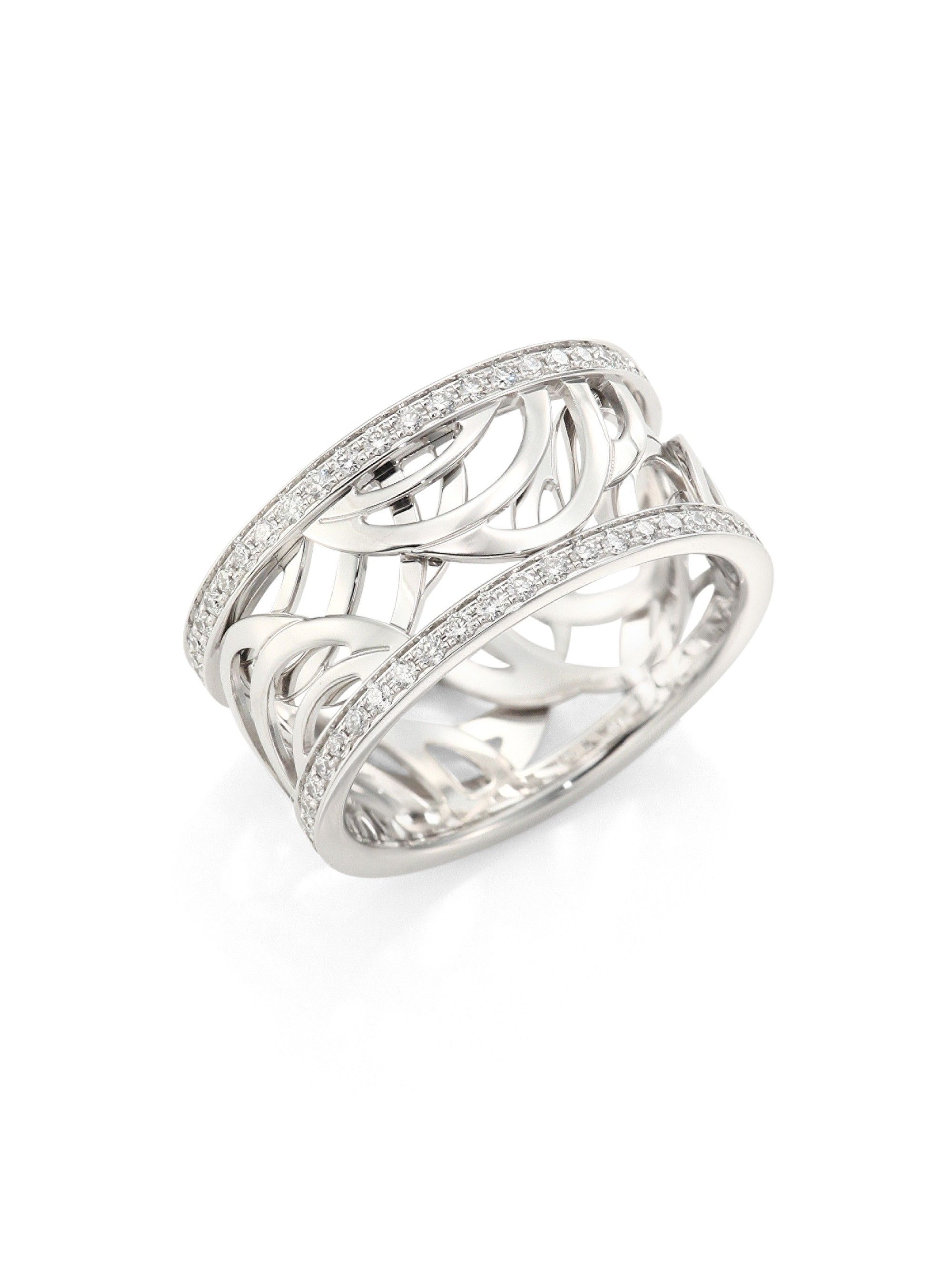 De beers aria diamond u k white gold band ring white