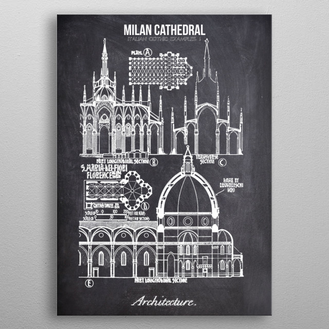 Milan Cathedral by FARKI15 DESIGN | metal posters - Displate | Displate thumbnail