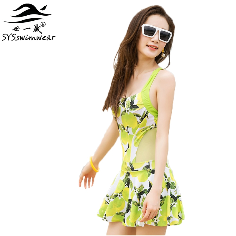 24.20$  Buy now - http://alitd0.shopchina.info/go.php?t=32764505250 - High Quality Sexy Backless Tropical Fruit Mango Print Women One Pieces Swimwear Cute Lemon Print Girl Swimsuit Bathing suit 24.20$ #buyonlinewebsite