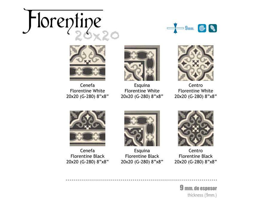Carrelage aspect carreau ciment 20x20 serie Florentine Mainzu   Carrelage sol interieur ...