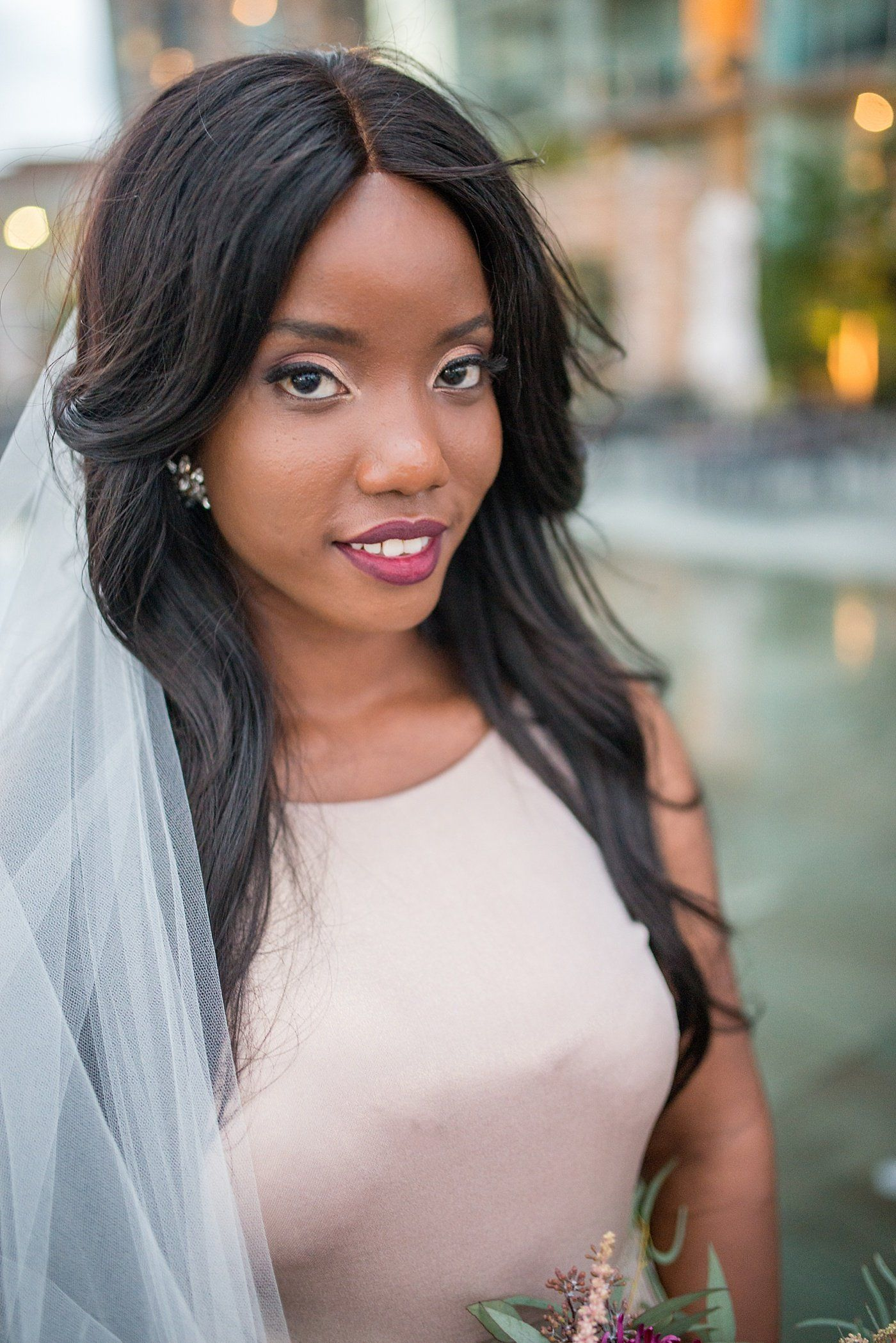 JewelToned Rooftop Wedding Inspiration Black bride