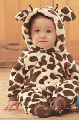 Funky & Cute Giraffe Baby Pram suit Funky unisex footless giraffe print pram suit, Hood with novelty ears & a cute tail to back, meaning your baby is bound to raise a few smiles
